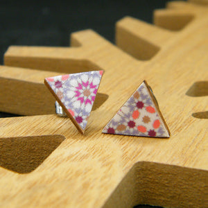 Quilted stud earrings