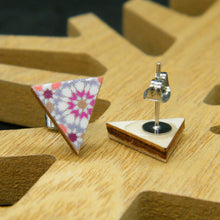 Load image into Gallery viewer, Quilted stud earrings