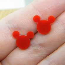 Load image into Gallery viewer, Mouse ears studs (multiple colours available)
