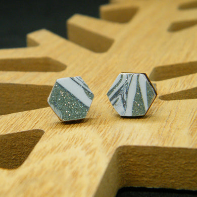 Seaglass stud earrings
