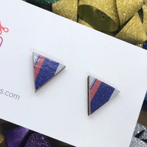 Staycation triangle stud earrings