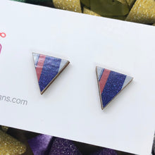 Load image into Gallery viewer, Staycation triangle stud earrings