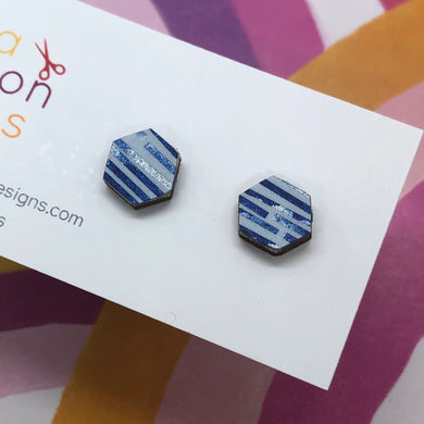 On holiday stud earrings