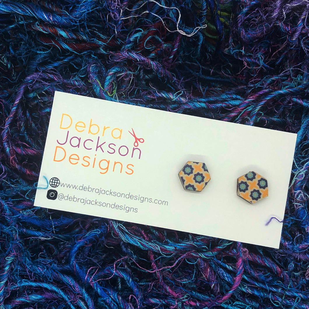 Summer Mosaic stud earrings