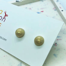 Load image into Gallery viewer, Cream dome stud earrings