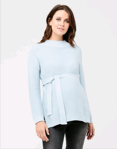 Tara Nursing Knit Ice Blue