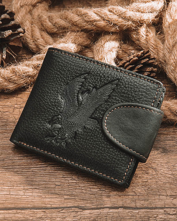 mens-Leather Wallet - Liberty [Black] - Alexandre León