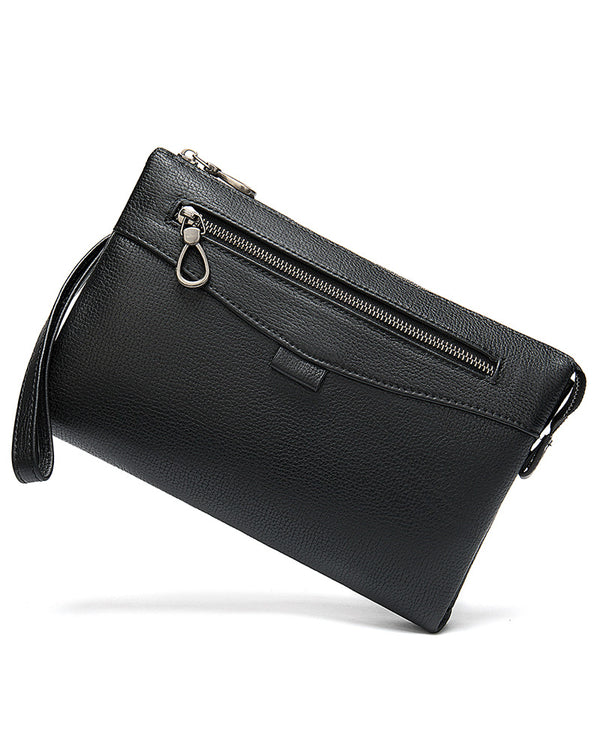 mens-Leather Clutch / Wallet - Percy [Black] - Alexandre León