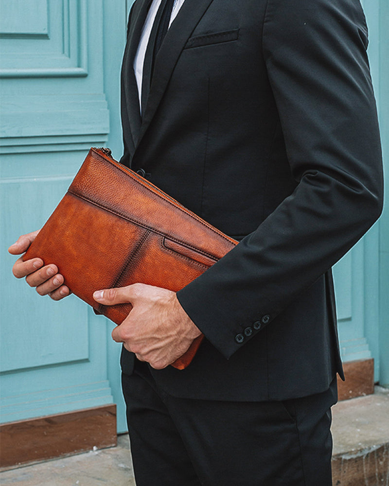 Leather Clutch / Wallet - Reed [Brown] - Alexandre León