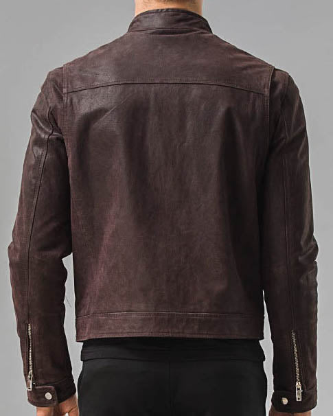 mens-Moto Leather Jacket - Axel [Coffee Brown] - Alexandre León