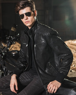 Moto Leather Jacket - Maiconi [Black] - Alexandre León
