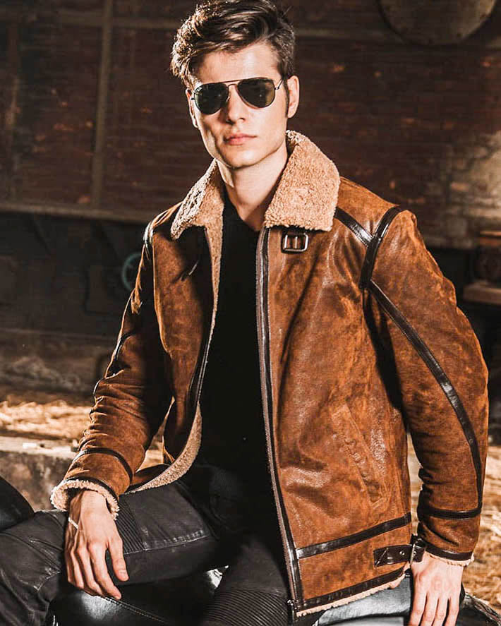 Leather Jacket - Juan [Brown] - Alexandre León