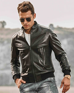 Moto Leather Jacket - Jacobo [Black] - Alexandre León