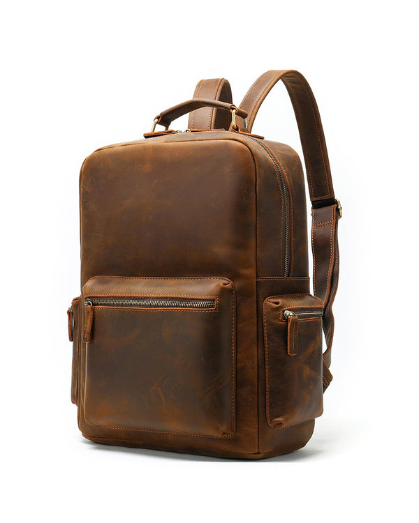 Leather Backpack - Ashburn [Coffee Brown] - Alexandre León