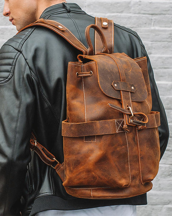 Leather Backpack - Rusland [Coffee Brown] - Alexandre León