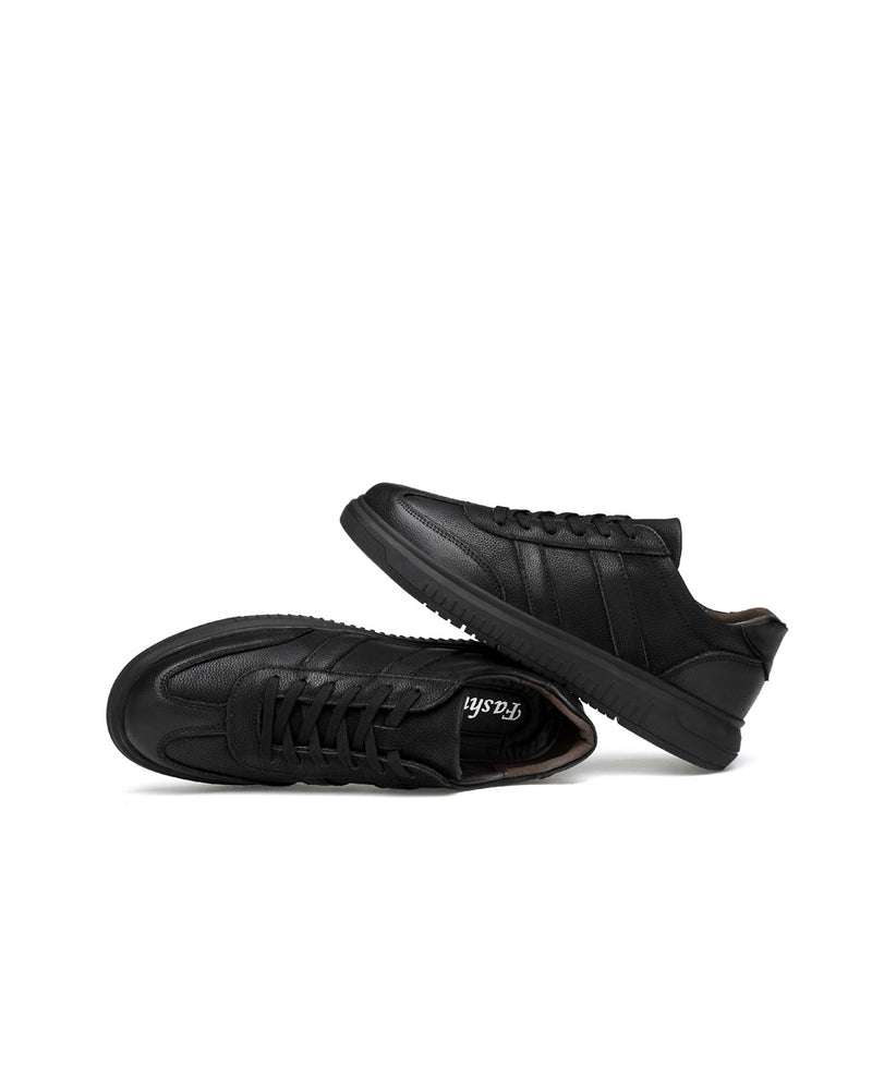 mens-Leather Casual Shoes - Alfred [Black] - Alexandre León