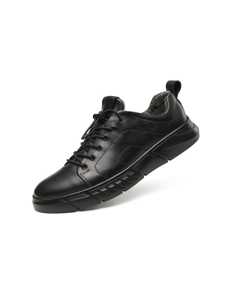Leather Casual Shoes - Owen [Black] - Alexandre León
