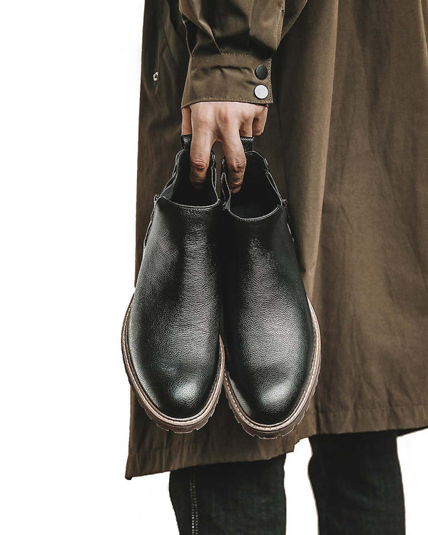 mens-Leather Chelsea Boots - Anthony - Alexandre León | black