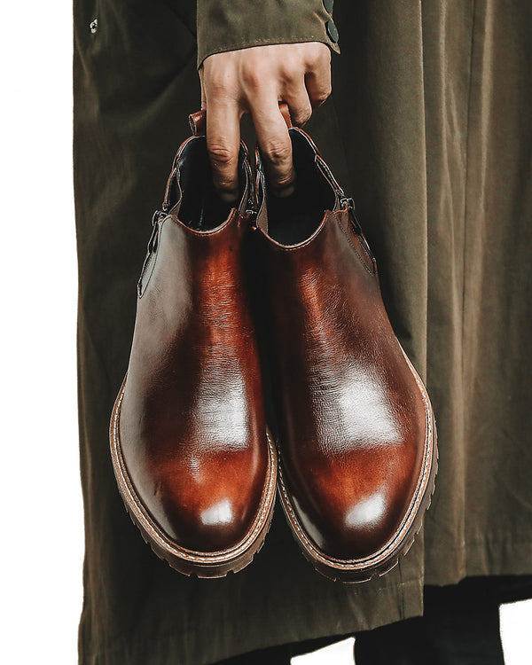Leather Chelsea Boots - Anthony [Brown]
