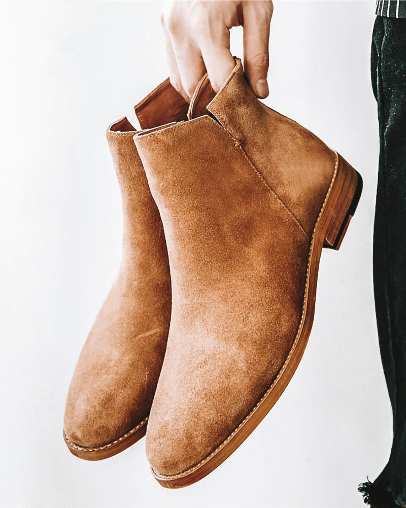 mens-Leather Chelsea Boots - Cody [Brown] - Alexandre León