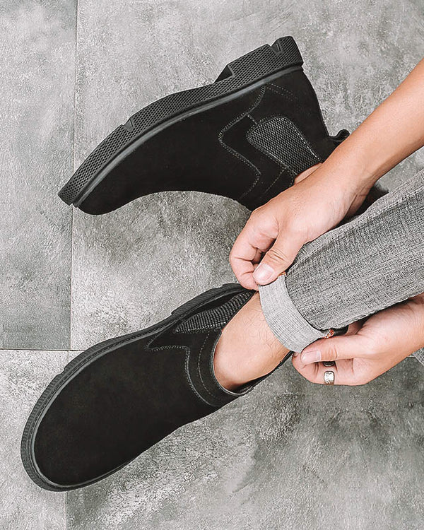 Leather Chelsea Boots - Fox - Alexandre León | black