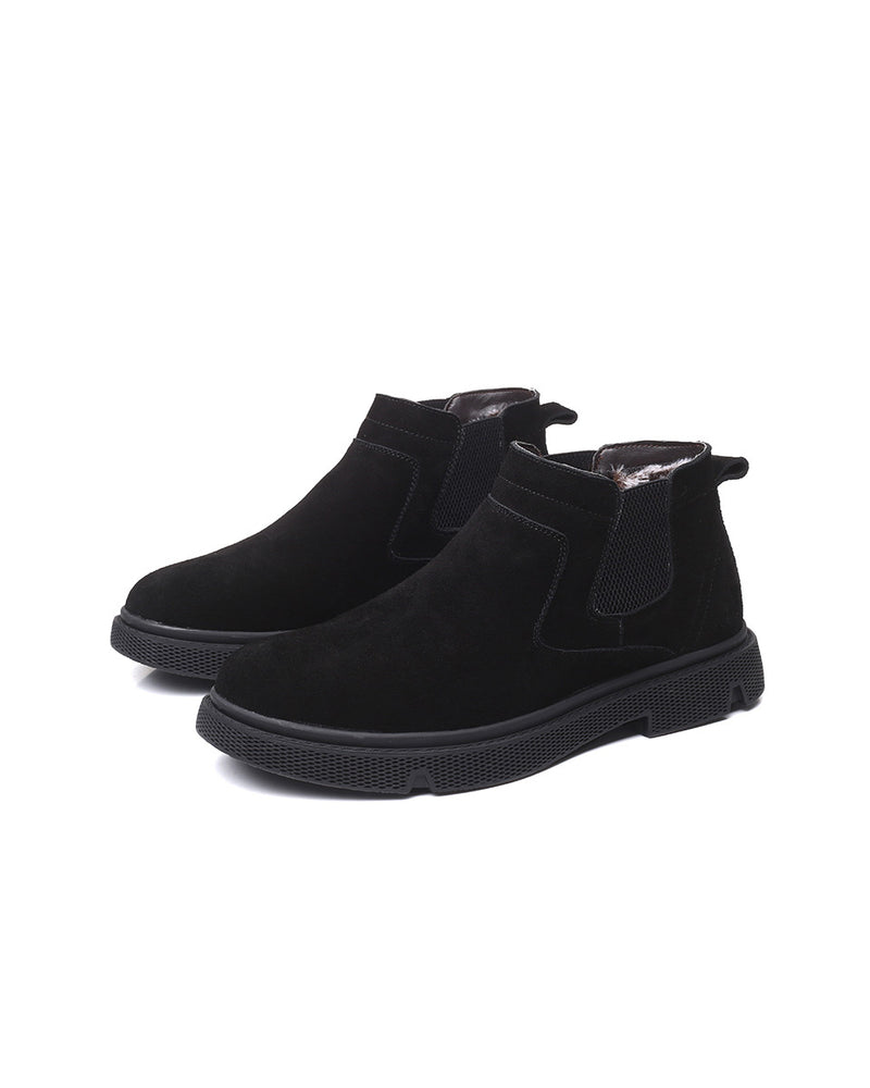mens-Leather Chelsea Boots - Fox [Black] - Alexandre León