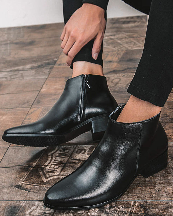 Leather Chelsea Boots - Noah [Black] - Alexandre León