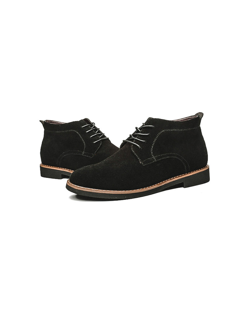 mens-Leather Chukka Boots - William [Black] - Alexandre León