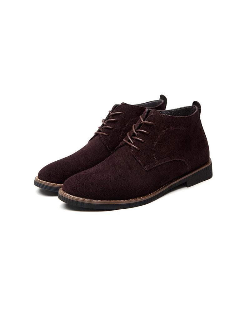 mens-Leather Chukka Boots - William [Coffee Brown] - Alexandre León
