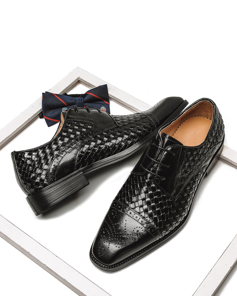 Leather Derby Shoes - Brian [Black]