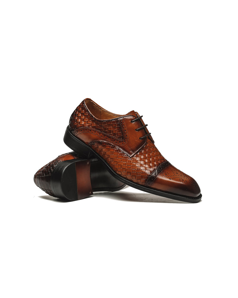 Leather Derby Shoes - Brian [Brown]
