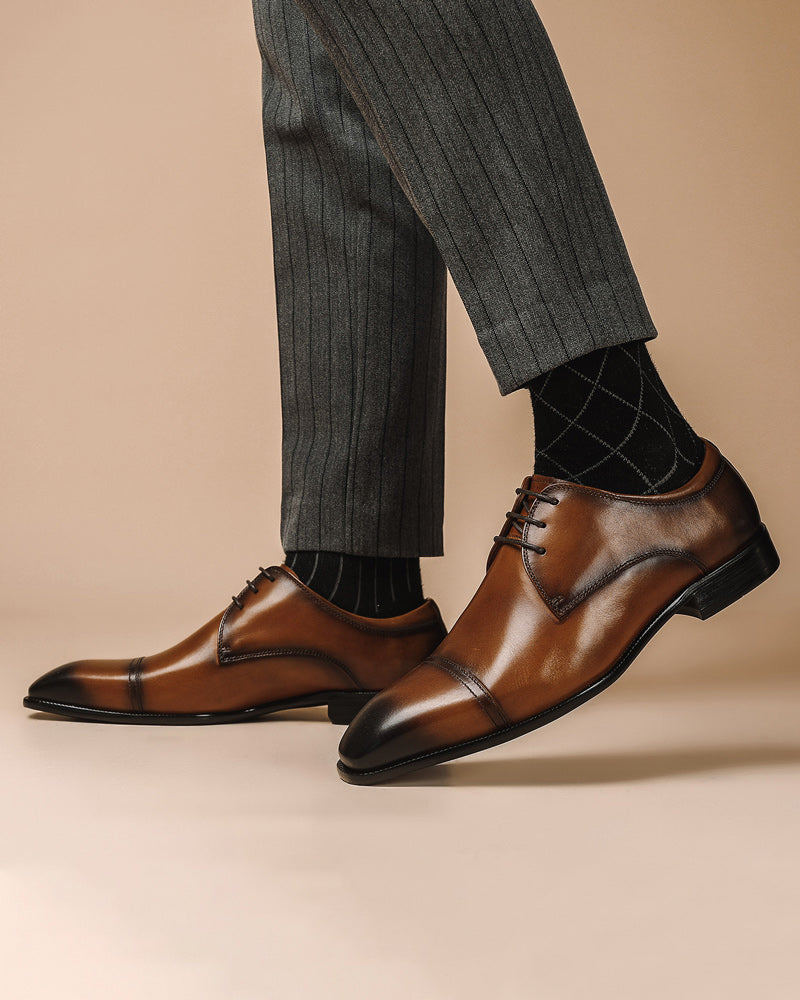 Leather Derby Shoes - Edward [Brown]