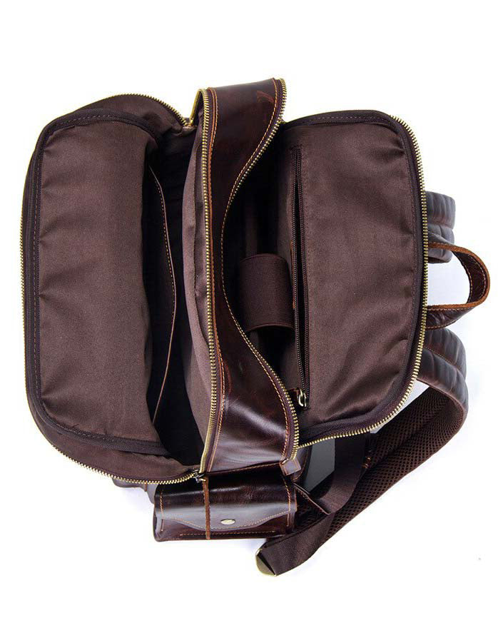 Leather Backpack - Monteray [Coffee Brown] - Alexandre León