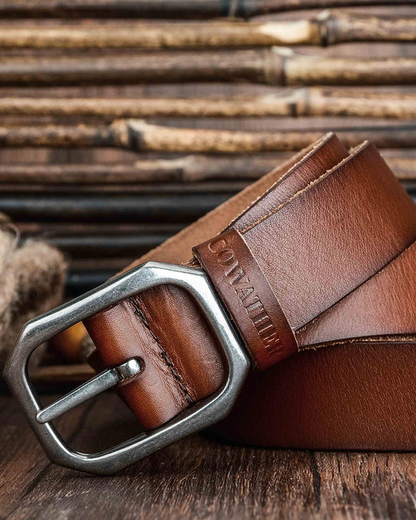 Leather Belt - Leonard [Brown]