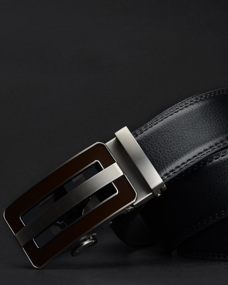 mens-Leather Belt - Timothée - Alexandre León | black