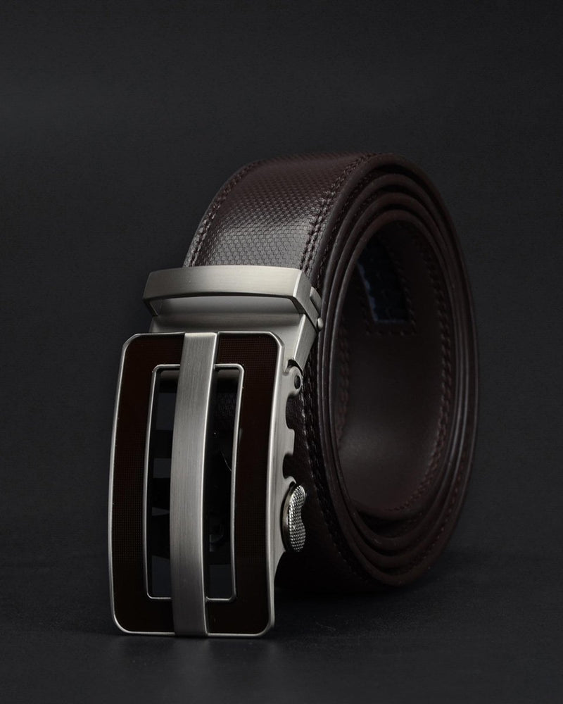 mens-Leather Belt - Timothée - Alexandre León | coffee-brown