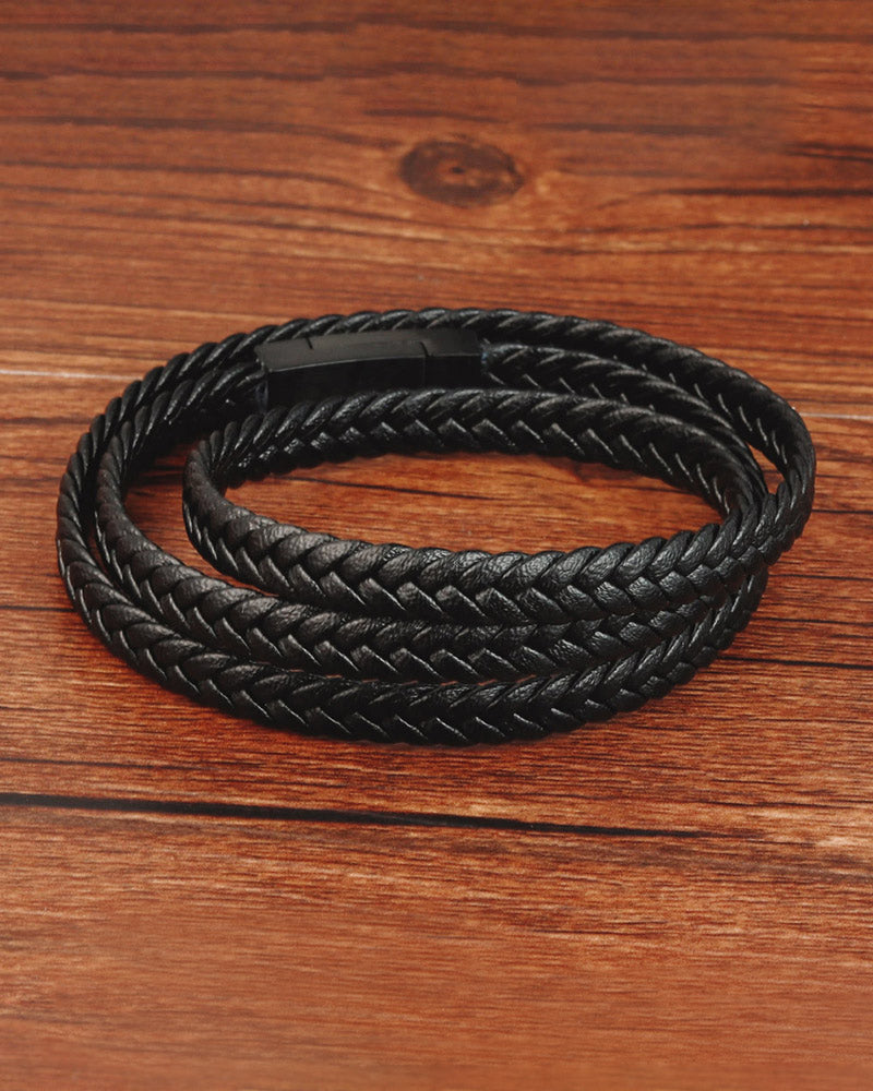 Leather Bracelets - Bobby [Black]