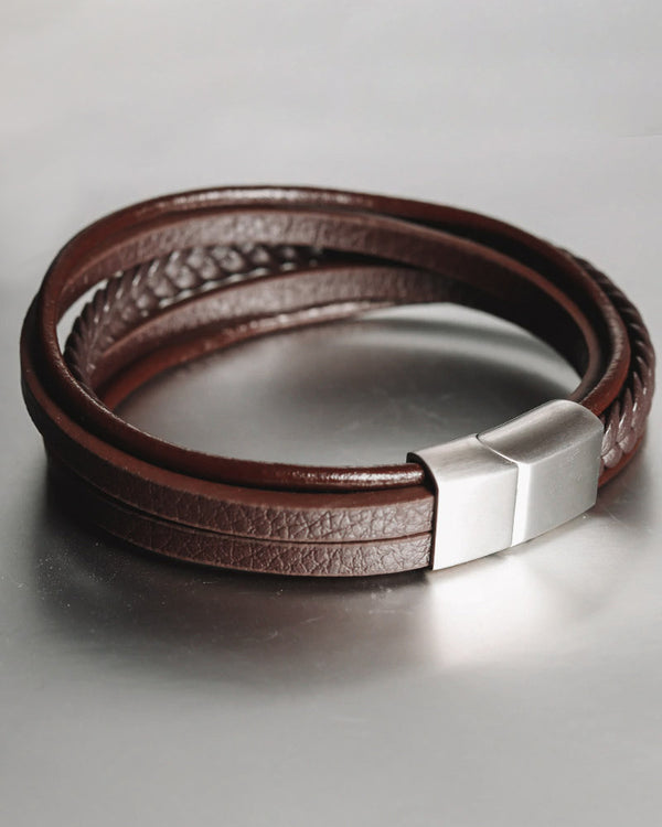 Leather Bracelets - Brandon [Coffee Brown]