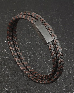 Leather Bracelets - Bruce [Coffee Brown]
