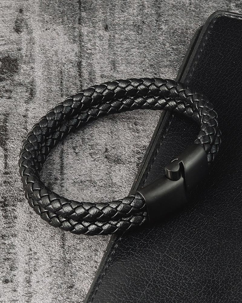 Leather Bracelets - Douglas [Black]