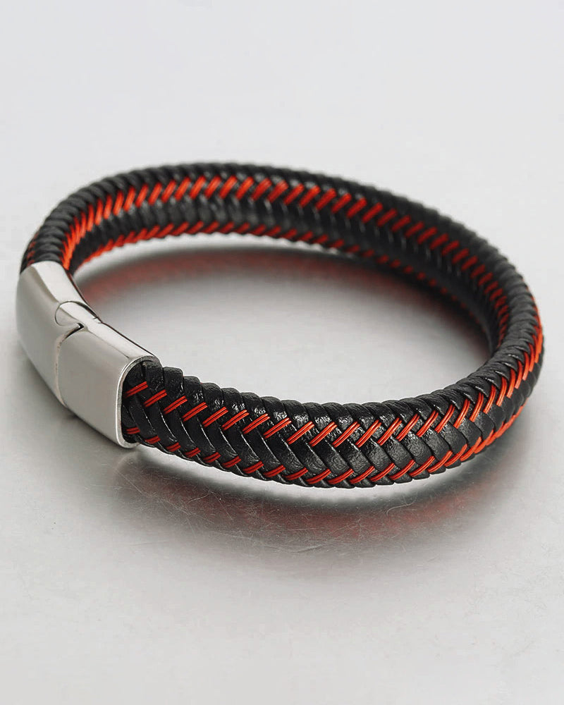 Leather Bracelets - Gregory [White]