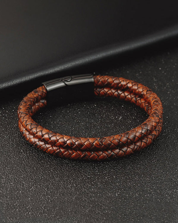 Leather Bracelets - Nathan [Brown]