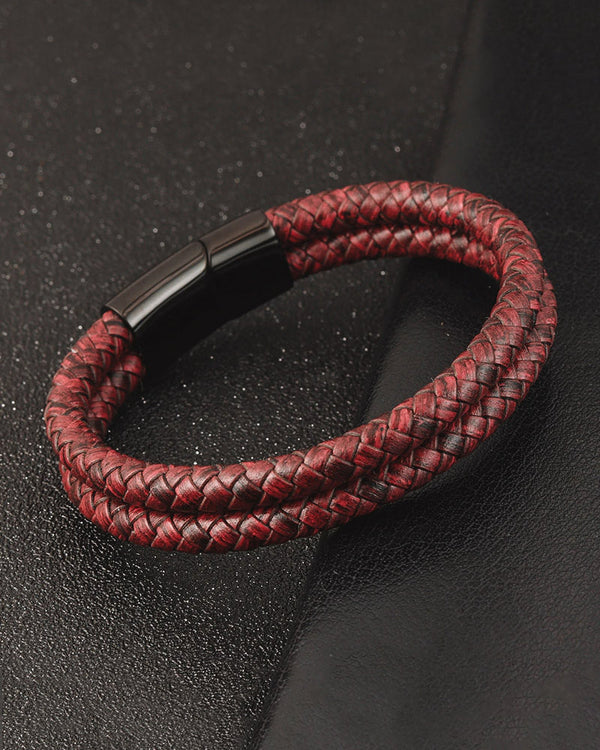 Leather Bracelets - Nathan [Red]