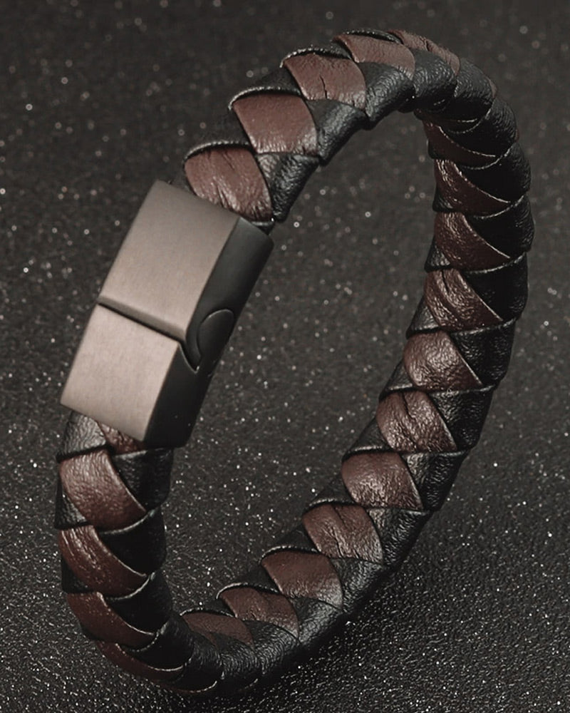 Leather Bracelets - Philip [Coffee Brown]