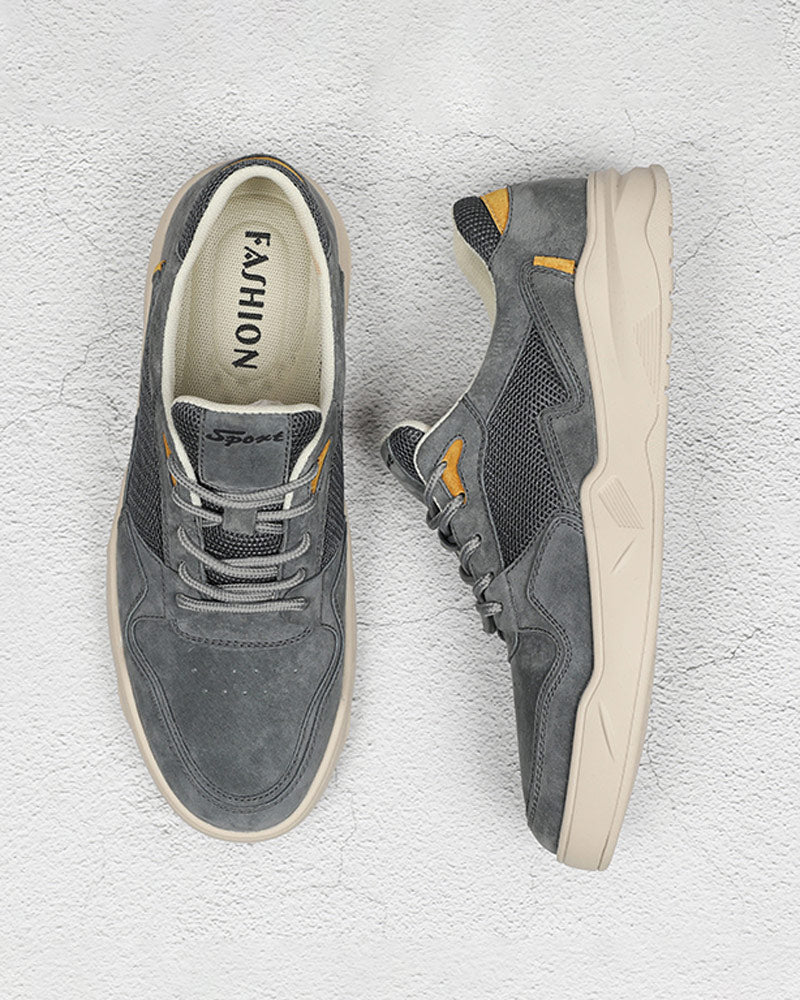 Leather Casual Shoes - Austin [Gray]