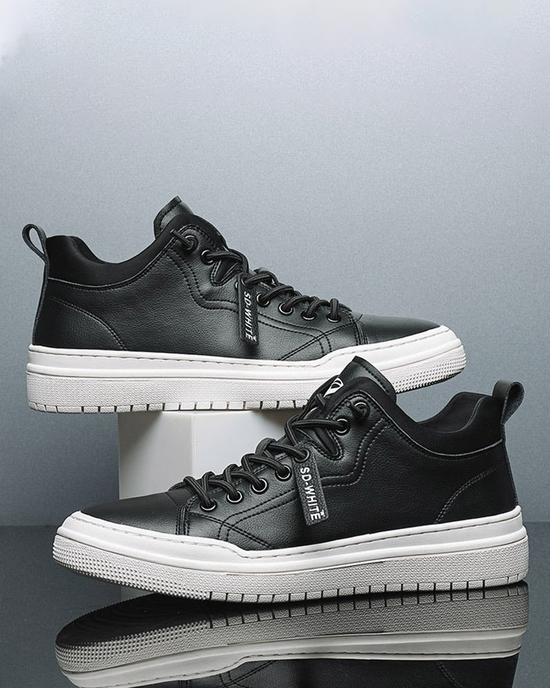 Leather Casual Shoes - Sean [Black]