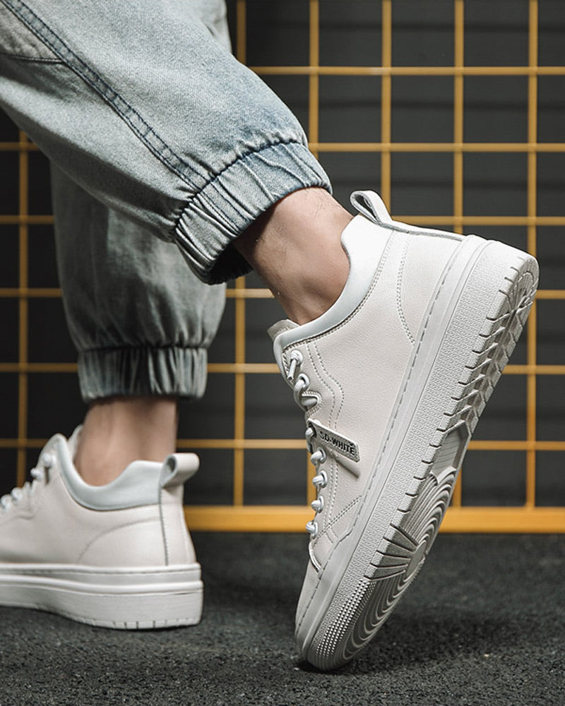 Leather Casual Shoes - Sean [White]