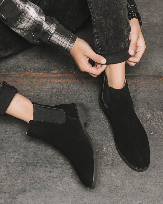 Leather Chelsea Boots - Liam [Black]