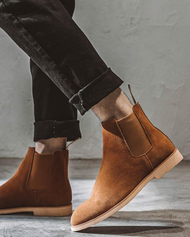 mens-Leather Chelsea Boots - Liam - Alexandre León | brown