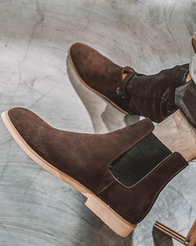 mens-Leather Chelsea Boots - Liam - Alexandre León | coffee-brown